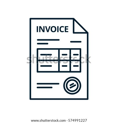 Invoice Line Icon Isolated On White Stock Vector (Royalty Free