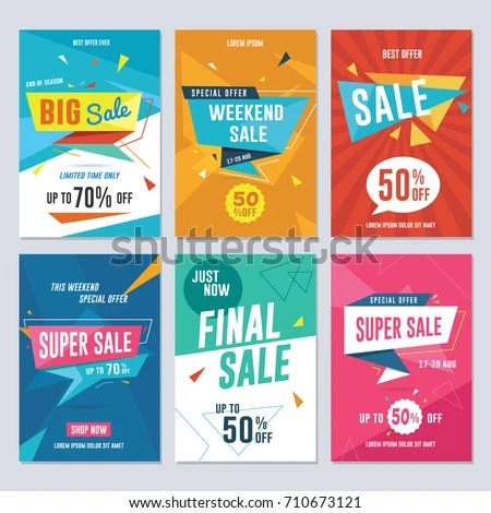 Sale Discount Promotion Flyer Banner Template Stock Photo (Photo
