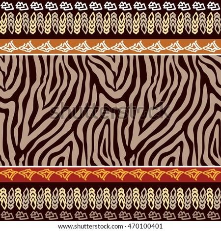 Neon Animal Print Wallpaper Animal Mix Seamless Background Stock Vector 127201388