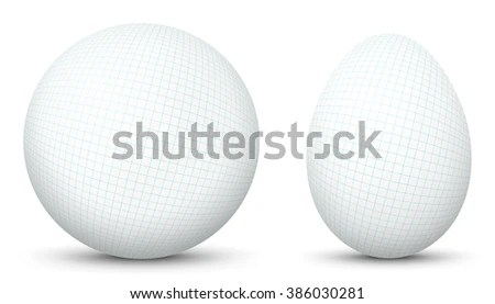 3d Vector Sphere Egg Side By Stock Vector 386030281 - Shutterstock - 3d graph paper