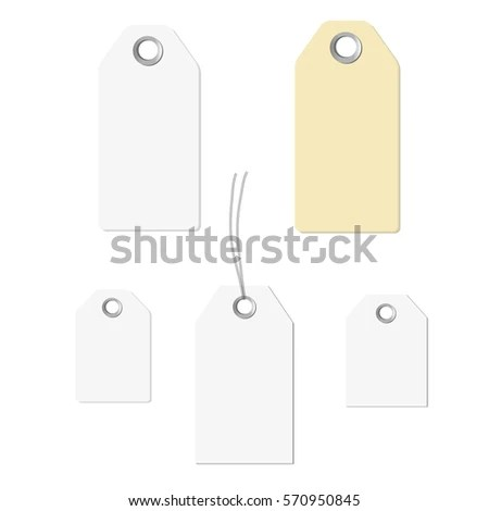 Blank Labels Template Price Tags Set Stock Vector 531389539   Blank Label  Template