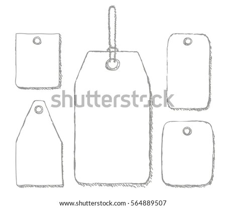 Blank Labels Template Price Tags Set Stock Vector (2018) 564889507 - blank label template