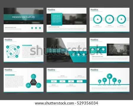 Green Abstract Presentation Templates Infographic Elements Stock - presentation template
