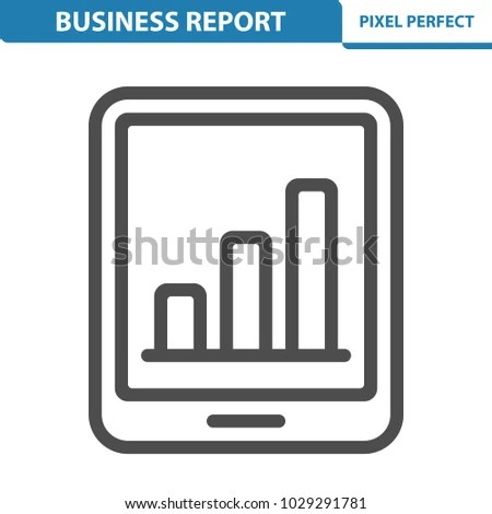 Business Report Icon Professional Pixel Perfect Stock Vector - professional business report format