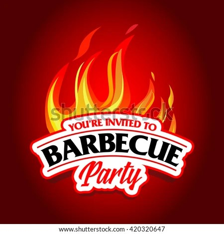 Barbecue Party Design Barbecue Invitation Barbecue Stock Vector - bbq flyer