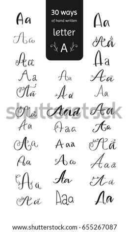 How To Write Alphabet A In Different Style Letter Calligraphy Kaurs