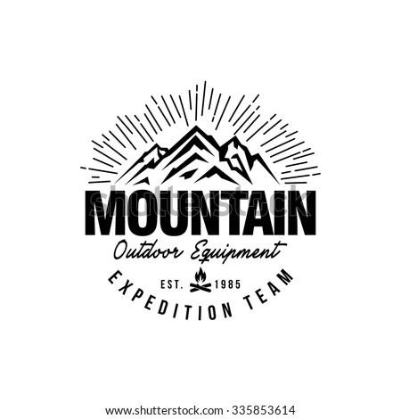Mountain Hipster Logo Template Stock Vector 335853614 - Shutterstock - hipster logo template