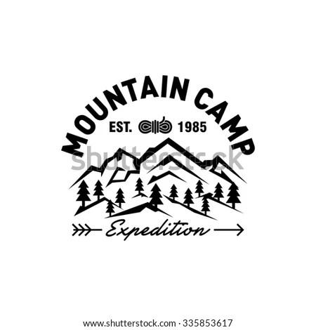 Mountain Hipster Logo Template Stock Vector (2018) 335853617 - hipster logo template