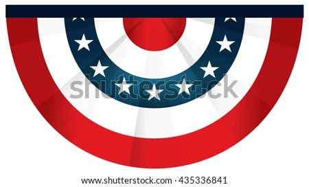 Bunting Semi Circle American Flag July Stock Vector 435336841