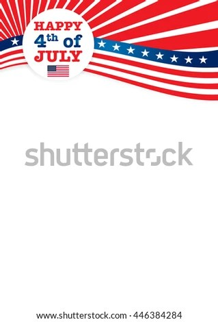 A 4 Sheet Template 4th July Independence Stock Vector 446384284 - 4th of july template