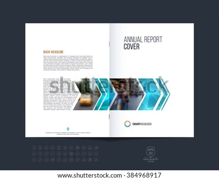 Brochure Template Layout Cover Design Annual Stock Vector 384968917