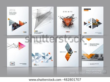 Brochure Template Layout Cover Design Annual Stock Vector (2018 - sales brochure template
