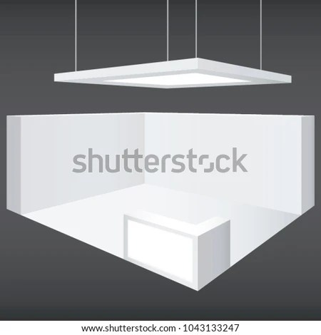 Vector Generic White Trade Show Exhibit Stock Vector HD (Royalty - po booth template