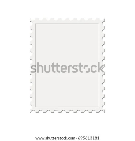 Blank Mock Postage Stamp Template Isolated Stock Vector HD (Royalty - stamp template