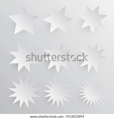 Set Paper Banner Stars Template Business Stock Vector (2018