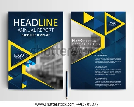 Abstract Vector Modern Flyers Brochure Annual Stock Vector (Royalty - design a flyer free