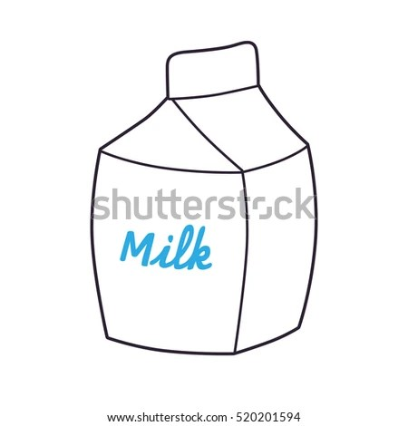 White Milk Carton Template Icon Stock Vector 520201594 - Shutterstock - Milk Carton Template