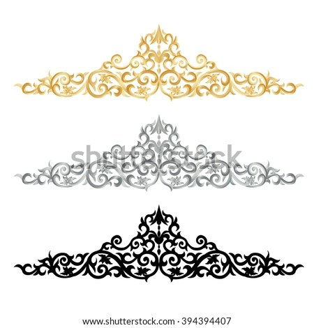Corner Gold Vintage Baroque Frame Scroll Stock Photo (Photo, Vector - baroque scroll designs