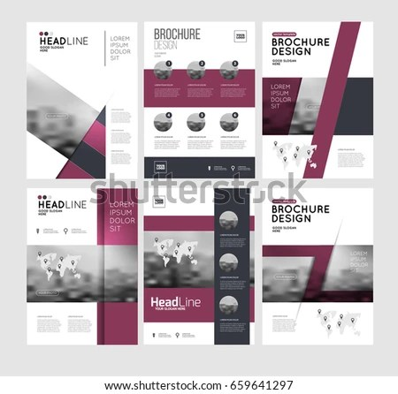 Six Flyer Marketing Templates Photo Text Stock Vector (Royalty Free