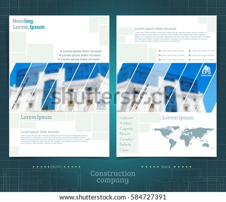Two Sided Brochure Flayer Template Design Stock Vector 584727391 - double sided brochure templates