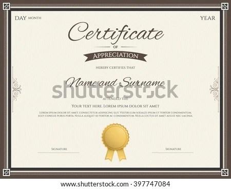 Certificate Appreciation Template Stock Vector 397747084 - Shutterstock - certificate of appreciation template