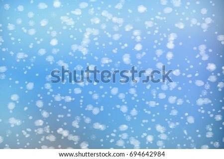 Winter Simple Christmas Blue Background Snow Stock Illustration