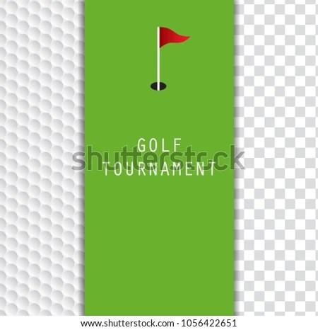 Golf Tournament Invitation Flyer Template Graphic Stock Photo (Photo