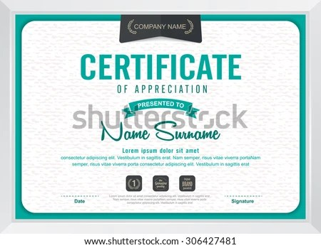 Modern Award Certificate Stock Images, Royalty-Free Images - award certificate template