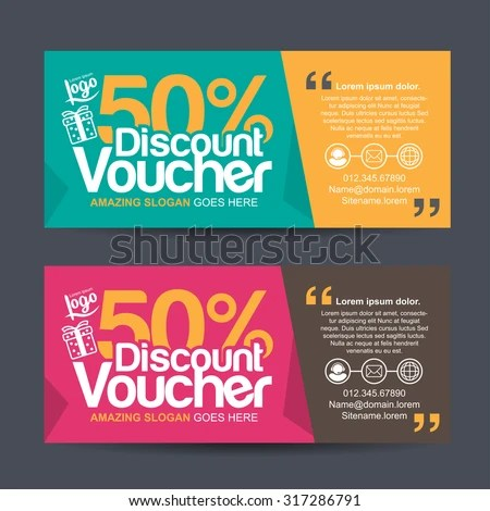 Discount Voucher Template Colorful Patterncute Gift Stock Vector HD - discount coupons templates