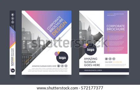 Poster Flyer Pamphlet Brochure Cover Design Stock Vector HD (Royalty - pamphlet layout template