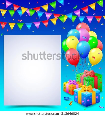 Birthday Background Blank Sign Stock Vector 313646024 - Shutterstock - birthday backround