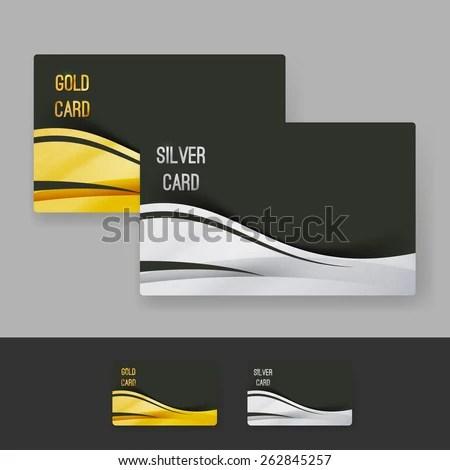 Golden Silver Membership Luxury Card Design Stock Vector 262845257 - club card design