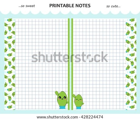 Drawing Notebook Paper Printable - Worksheet  Coloring Pages