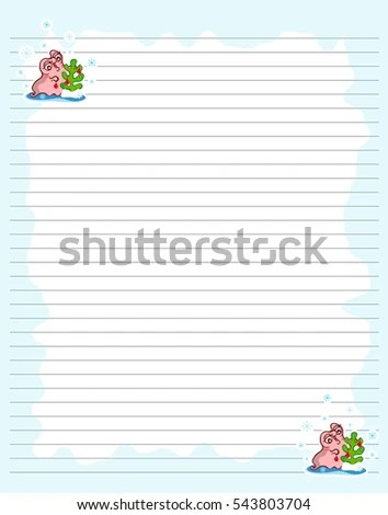 Vector Printing Paper Note Cute Paper Stock Photo (Photo, Vector