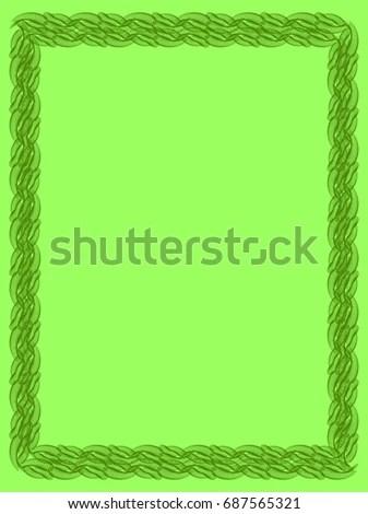 Solid Green Border solid color border clipart light green solid - solid green border