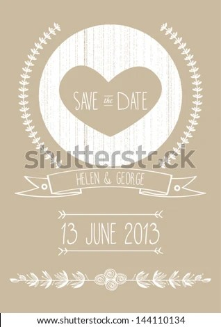 Save Date Wedding Invitation Template Vector Stock Vector (2018