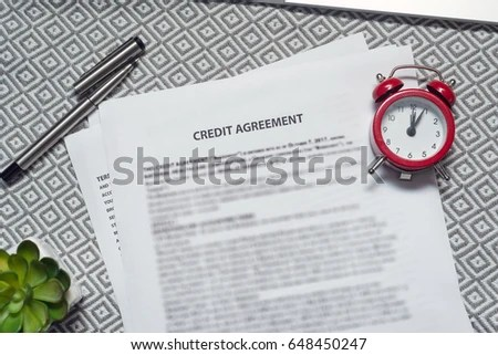 Credit Agreement Stock Photo 648450247 - Shutterstock - credit agreement