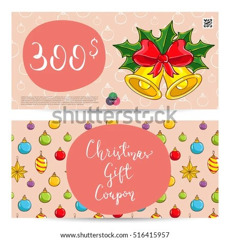 Christmas Gift Voucher Template Gift Coupon Stock Vector (2018 - christmas gift vouchers templates