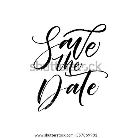 Save Date Postcard Wedding Phrase Ink Stock Vector 557869981 - save date postcard