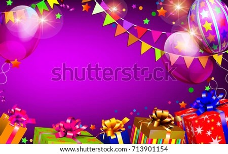 Happy Birthday Background Stock Vector 713901154 - Shutterstock