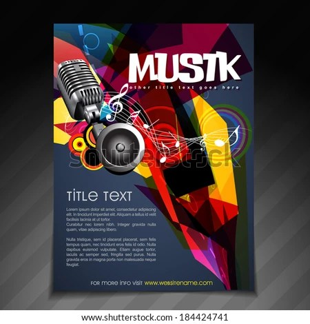 Vector Music Party Brochure Flyer Template Stock Vector 184424741 - party brochure template