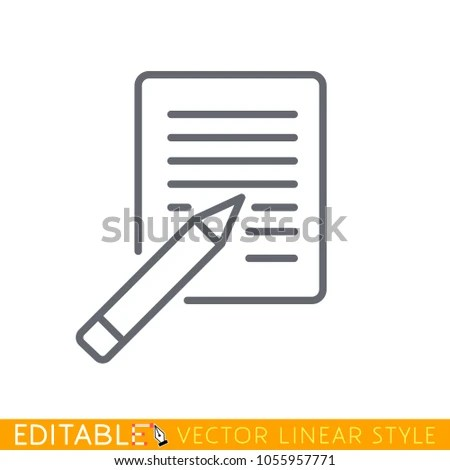 Blank Lined Paper Pencil Eraser Illustration Stock Vector 1055957771 - editable lined paper