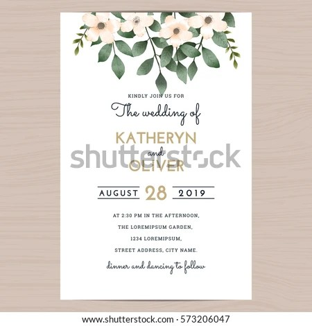 Save Date Wedding Invitation Card Template Stock Vector (2018 - Save The Date Wedding Templates