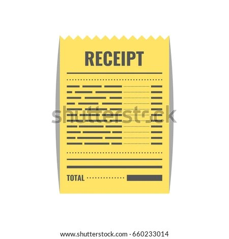 Receipt Icon Invoice Sign Bill Atm Stock Photo (Photo, Vector - check invoice