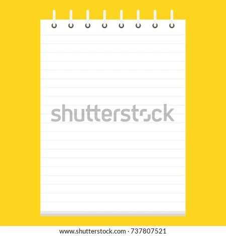 Template Spiral Notebook School Notebook Diary Stock Vector (2018 - diary paper template