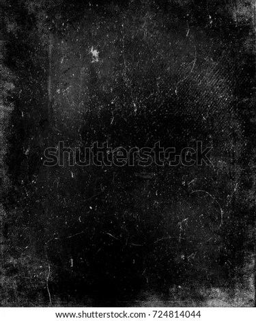 Grunge Abstract Black Scratched Textured Background Stock