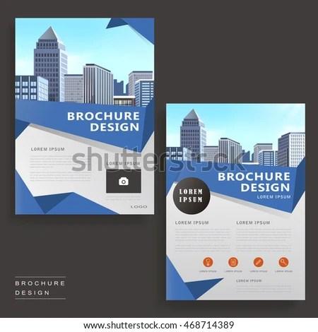 Contemporary Brochure Template Design City Landscape Stock Vector - contemporary flyer