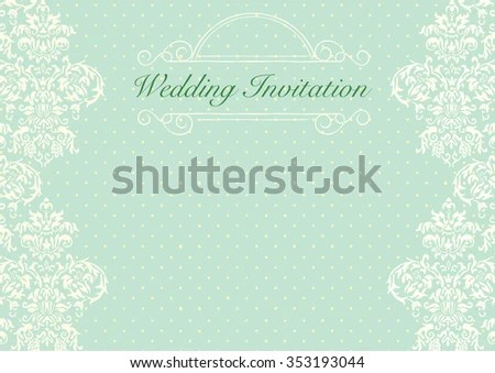 Mint Green Wedding Invitation Background Stock Vector HD (Royalty