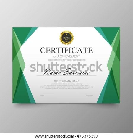 Vector illustration in rank M-rank Certificate template awards - certificate of rank template