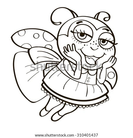 Coloring Book Ladybug Stock Vector 310401437 - Shutterstock